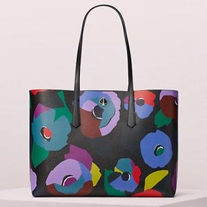 Kate Spade ♠️ molly floral collage large tote